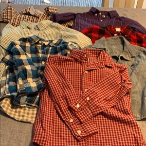 Set of 7 toddler size 3 button down shirts